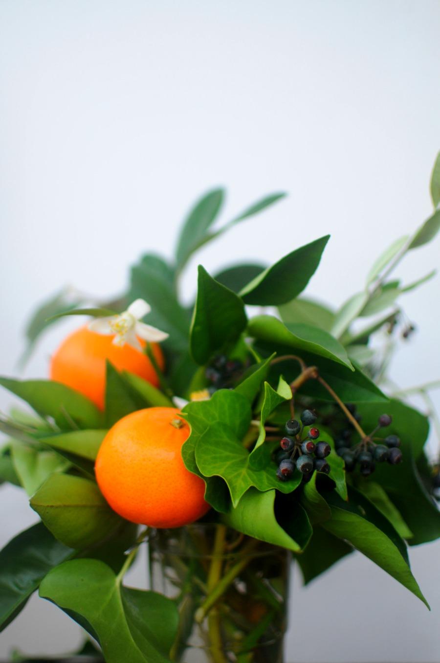 orange blossom arrangement