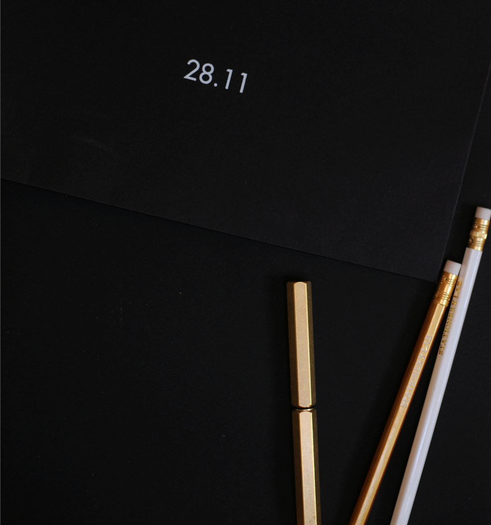 desktop brass pen