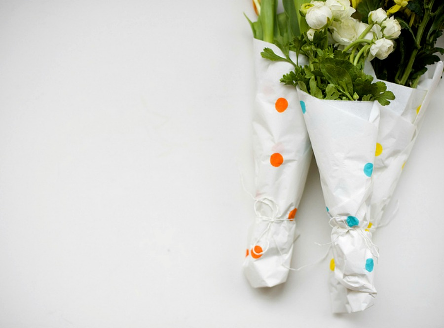 dotted flower wraps