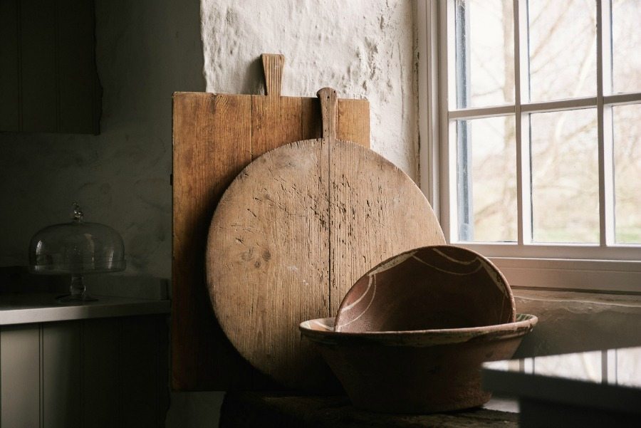 rustic cheese board