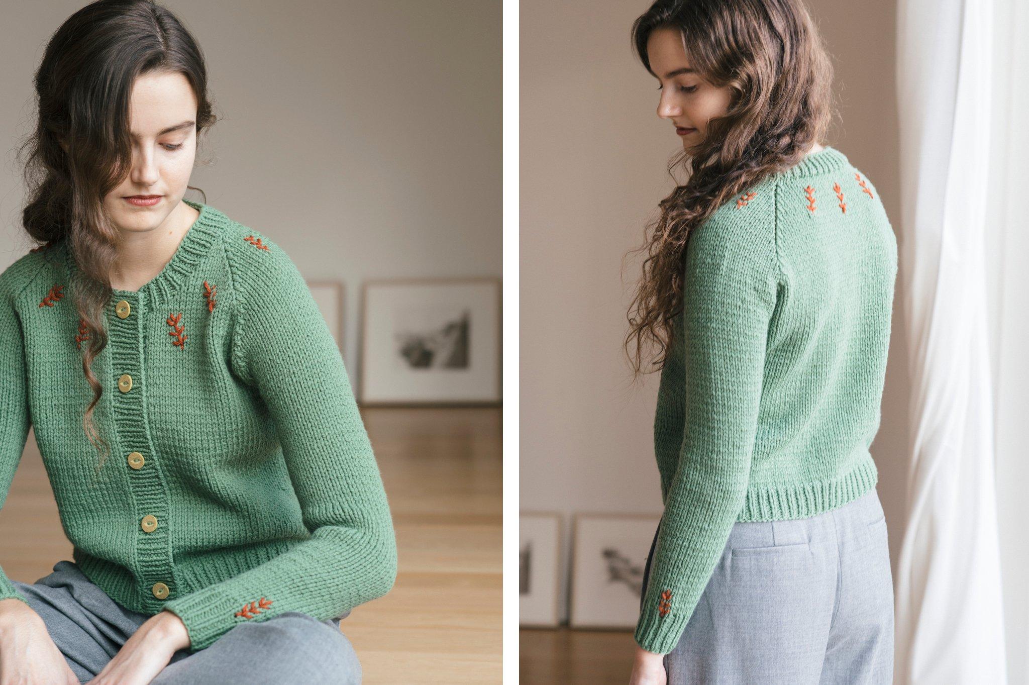 pine tree sweater