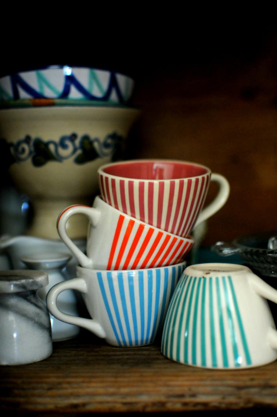 striped cups