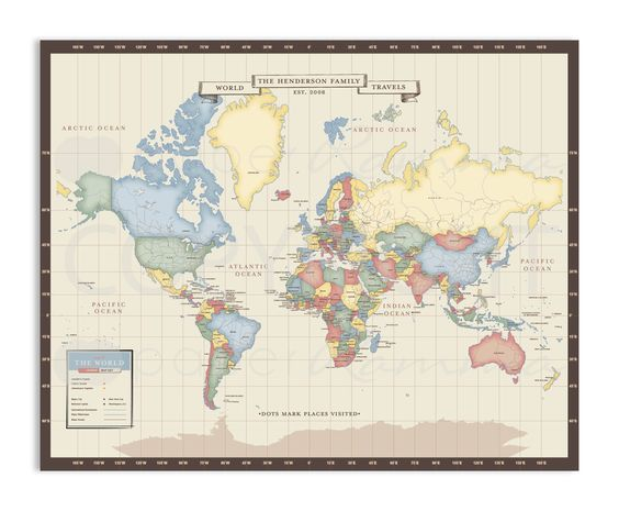custom travel maps