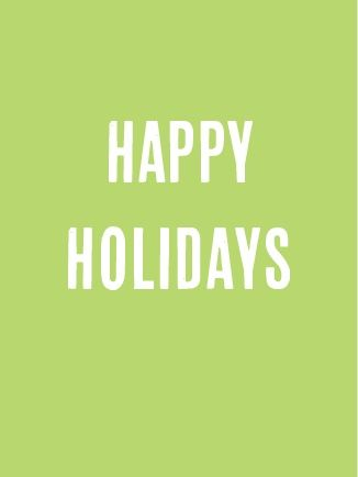 holiday card simple