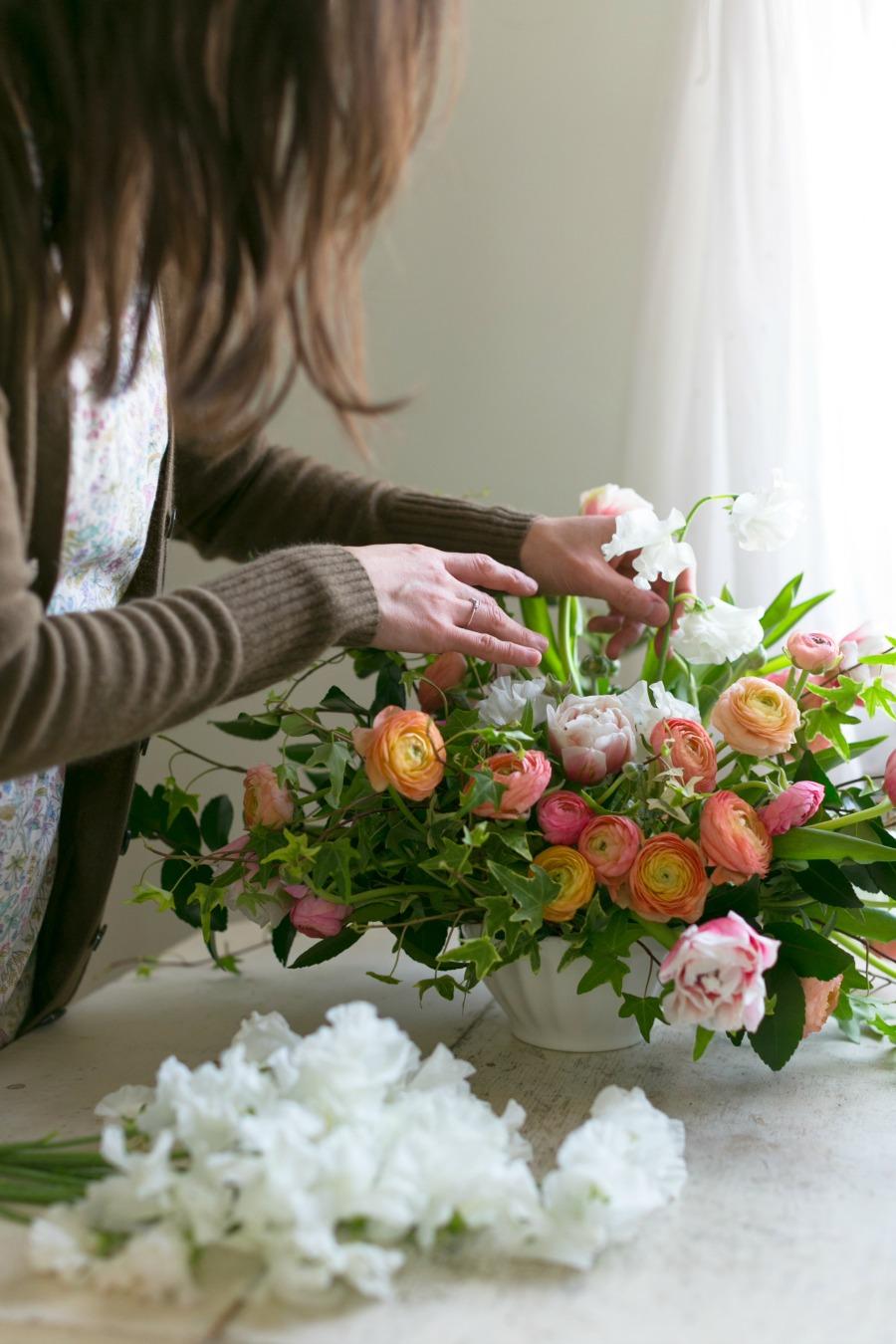 tulips centerpiece